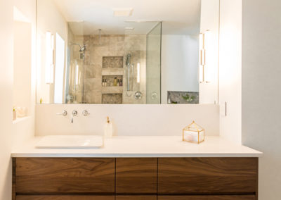 Bridget Havercroft Photography, Aura Custom Cabinets, Bathroom, Architecture, Real Estate, Floating cabinet, bathroom sink, bathroom cabinets, lighting