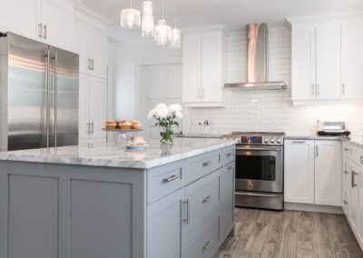Bridget Havercroft Photography, Architecture, Aura Custom Design, Kitchen, Custom Design, Custom Cabinets, Flooring, Architecture, White Cabinets, Grey Cabinets, Kitchen Island, Lighting,