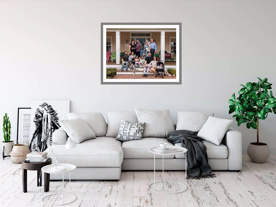 Bridget Havercroft Photography, Custom Artwork, Colour Matching, Artwork, Custom Framed Prints, The Palmer Family, Artwork to match decor, Grey, Living Room,
