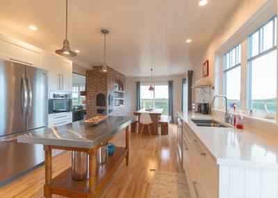 Chef's Kitchen in custom design cottage in PEI
