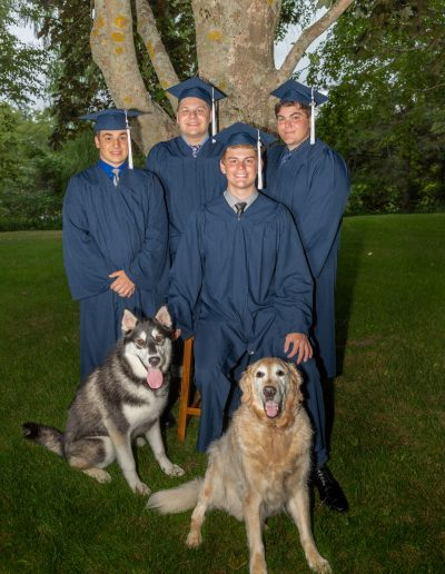 6 best friends including 2 dogs, graduation pics, milestone photography, annapolis valley photographer
