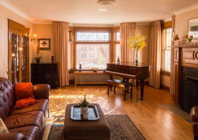 Living room of Historic Property on Main Street, Wolfville