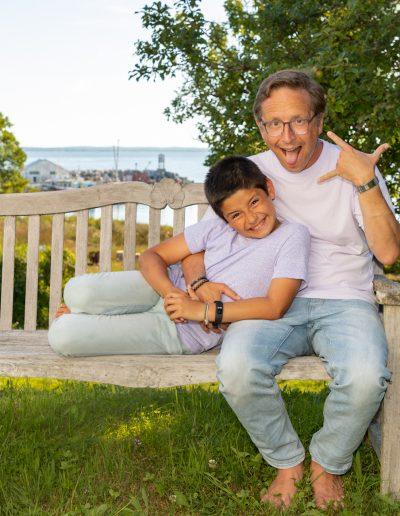 Family portraits, family photos, father and son photos