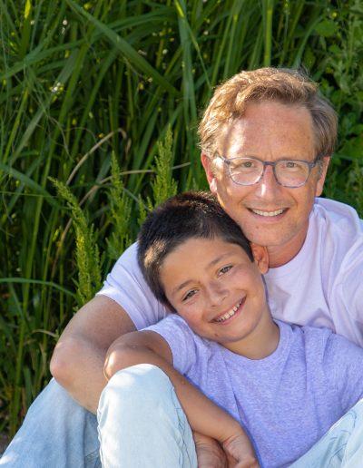 Family portrait, family photos, father and son photos